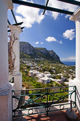 beautiful view on capri island, italy