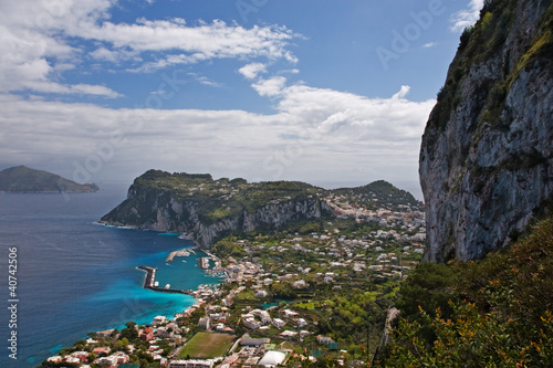 beautiful coastline on capri island, italy