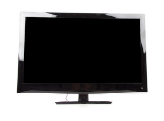 Plasma LED tv isolated on a white background