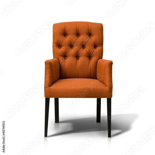 Orange chair isolate on white