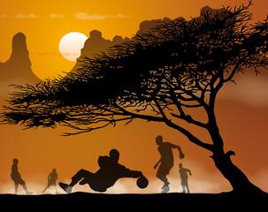 Enfants foot Afrique