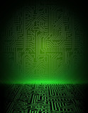 Vector green energy electronic background. eps10