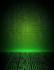 Vector green energy electronic background. eps10