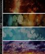 EPS 8 vector mosaic & pixel web banner set