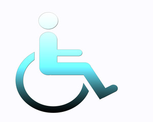 Handicap symbol, disabled sign