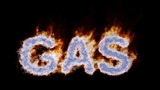"Burning word ""GAS"""