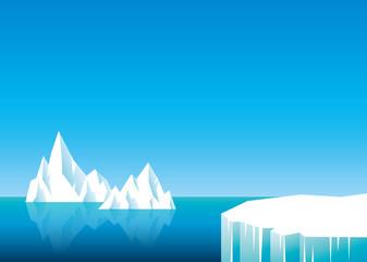 氷山 よこ