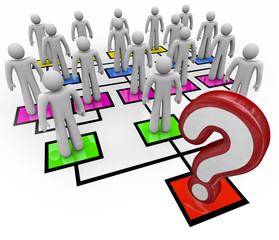 Question Mark Lack of Leadership Org Chart