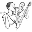 jazz singer and doublle bass