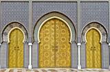 Golden doors of Fez Royal Palace poster