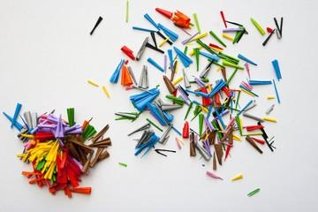 Mixed pencil shavings