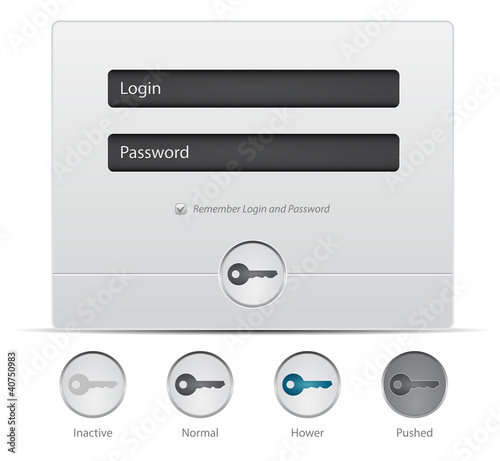 Login and register web window