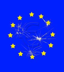 Broken euro..