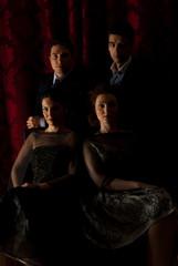 Elegant four people in night