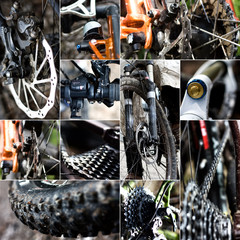 Mointainbike Collage