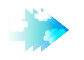 矢印と青空_グラデーション07