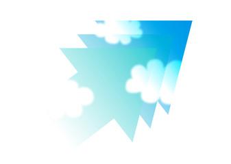 矢印と青空_グラデーション09
