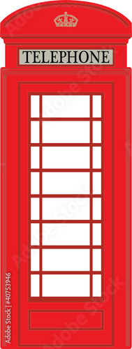 Phone booth, vector illustration