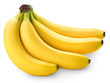 Bunch of bananas isolated on white background + Clipping Path