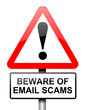 Email scam concept.