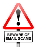 Email scam concept. poster