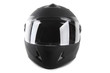 black motorcycle helmet isolated