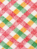 fabric in a red, yellow, green and white cell