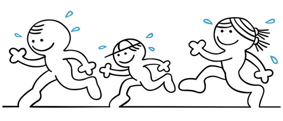 figur familie joggt