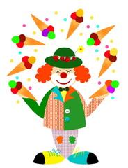 Clown mit Eis