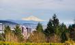 Portland and the Mount hood