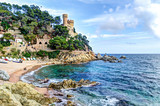 Fototapety mediterranean sea at the Costa Brava - Lloret de Mar, Spain