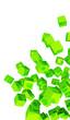 Banner - Fliegende Würfel Grün vertikal