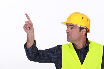 Site worker pointing