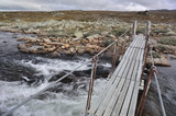 The Bridge over a river, Hardangervidda, Norway