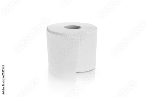 one roll of toilet paper isolated