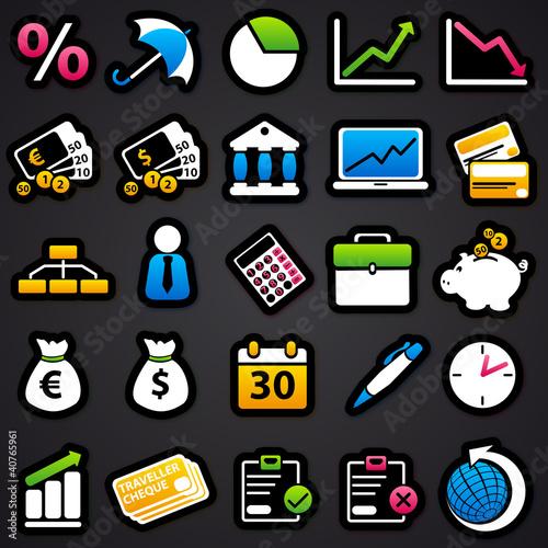 economic Color Icons