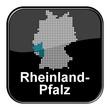 Glossy Button - Deutschlandkarte: Bundesland Rheinland-Pfalz