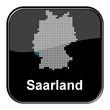 Glossy Button schwarz - Deutschlandkarte: Bundesland Saarland