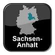 Glossy Button - Deutschlandkarte: Bundesland Sachsen-Anhalt