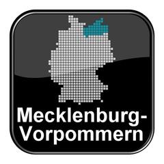 Glossy Button  - Karte: Bundesland Mecklenburg-Vorpommern