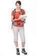 young woman orienteering