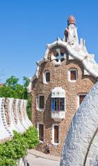 The famous Park Guell. Barcelona, Spain