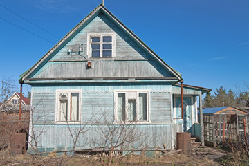 traditional russian dacha, spring
