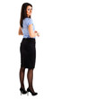 Beautiful businesswoman full length portrait
