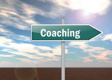 "Signpost ""Coaching"""
