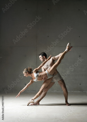 Ballet dancers posing together