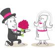 Figur, Blumen für die Braut