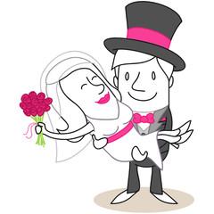 Figur, Bräutigam trägt Braut