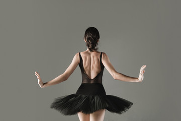 Ballet dancer posing in tutu