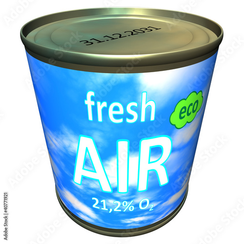 Can of ecologic fresh air - cartoon
